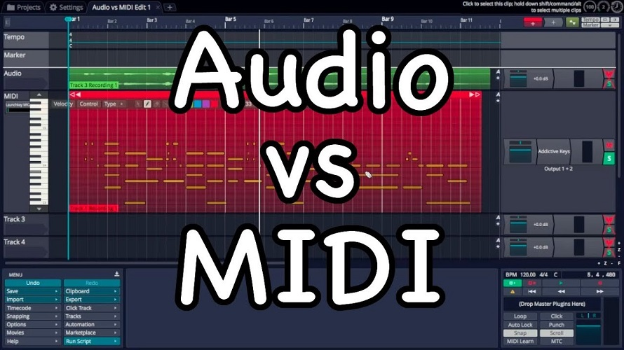 MIDI vs Digital Audio